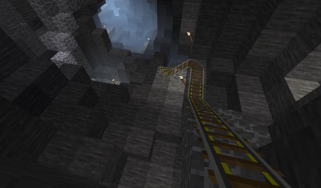 Typische Höhle mit Minenbahn